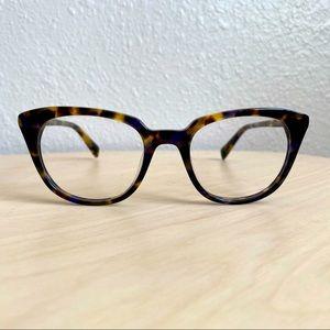 Warby Parker Chelsea cat eye tortoise glasses